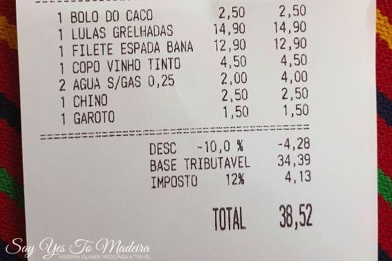 Madeira Island discount card - discounts to restaurants Madeira Island