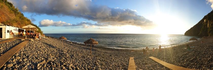 Anjos Beach, Madeira, Portugal - Beaches in Madeira. Sunset spots Madeira