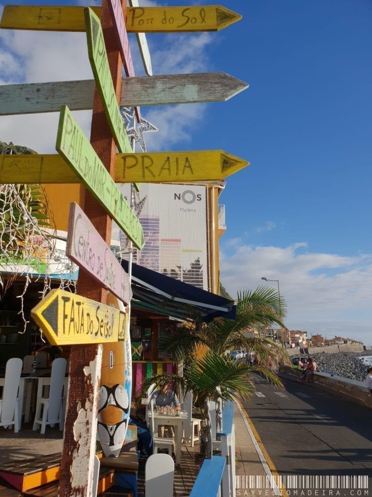 """Surfowanie na Maderze: Bar dla surferów """"Marktub"""" w Paul do Mar na Maderze. Najlepsze puby na Maderze."""