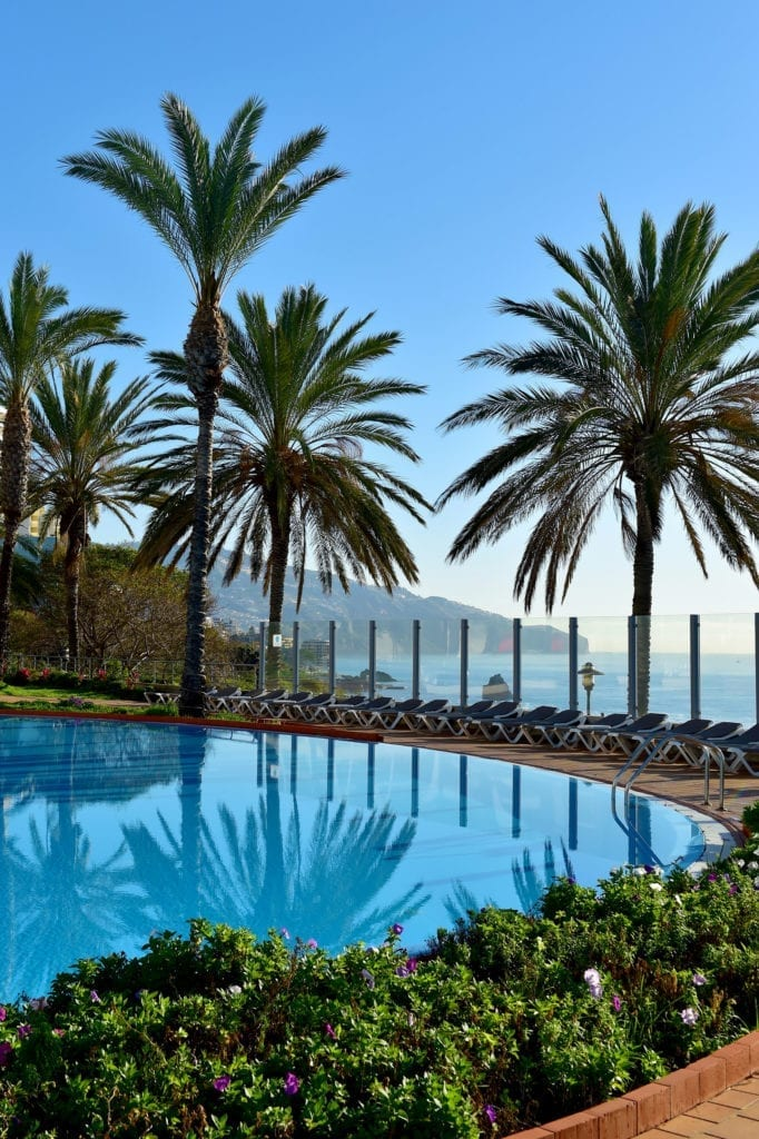 Where to swim in Madeira - Most beautiful outdoor hotel pools in Madeira, Portugal. Pict: Pestana Grand in Funchal