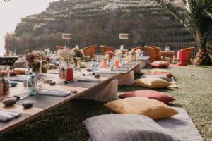 Informal outdoor wedding inspiration - boho style