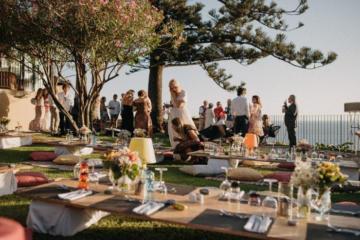 Beautiful boho style garden wedding on Madeira Island, Portugal