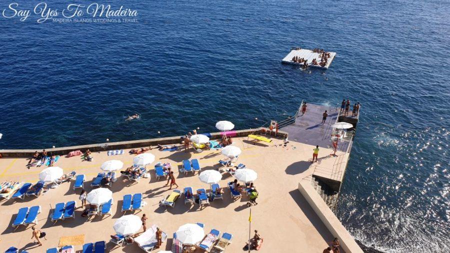 Publiczne baseny i strzezone kąpieliska w Funchal na Maderze - Barreirinha
