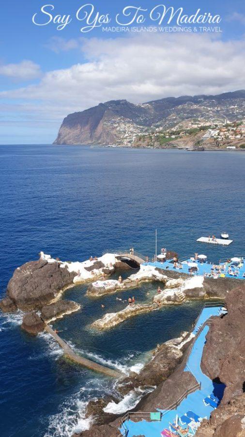 Naturalne baseny wulkaniczne na Maderze - Doca de Cavacas w Funchal i baseny w Porto Moniz
