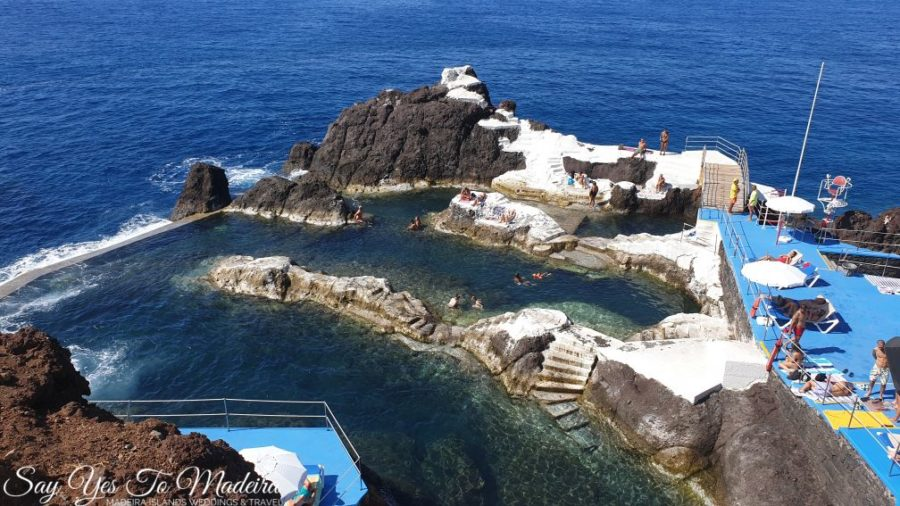 Natural pools, pool complexes and a water park in Madeira.