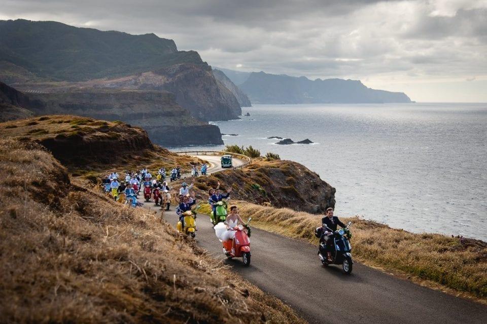Trouwen in Portugal -huwelijk in het buitenland - bestemming bruiloft op Madeira - trouwfotoshoot op Madeira