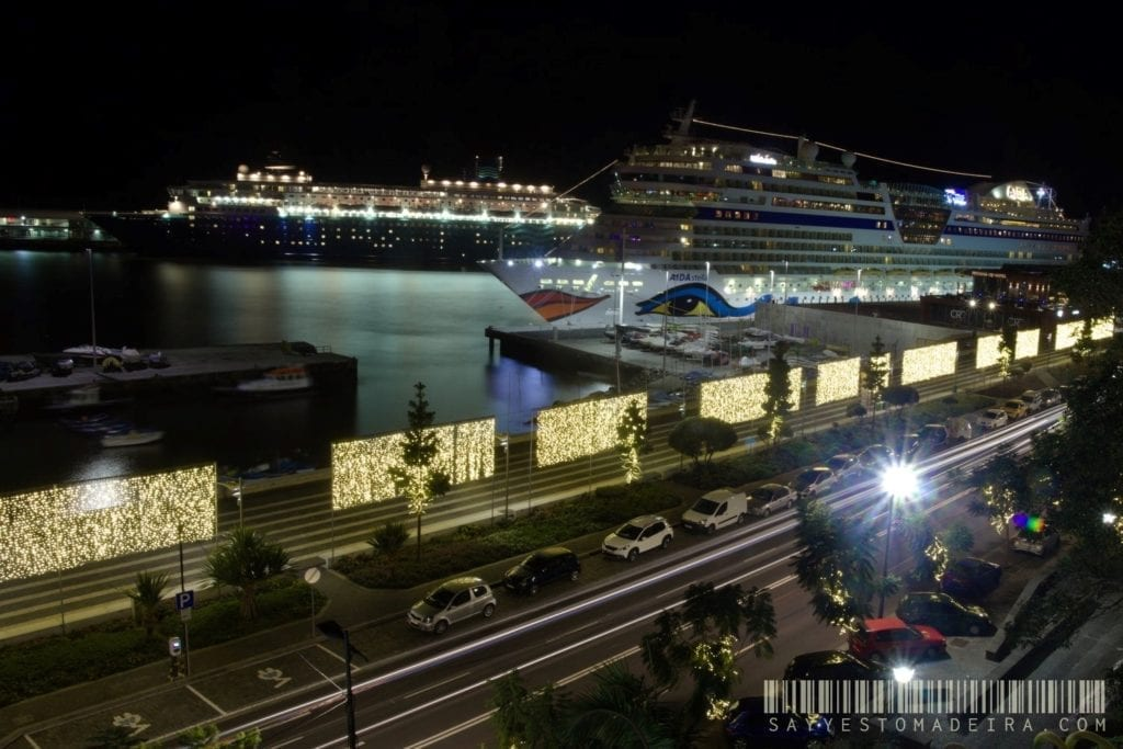 Cruise ship holidays in Madeira in December? Christmas light in Funchal, Madeira, Portugal | Wakacje na Maderze w grudniu