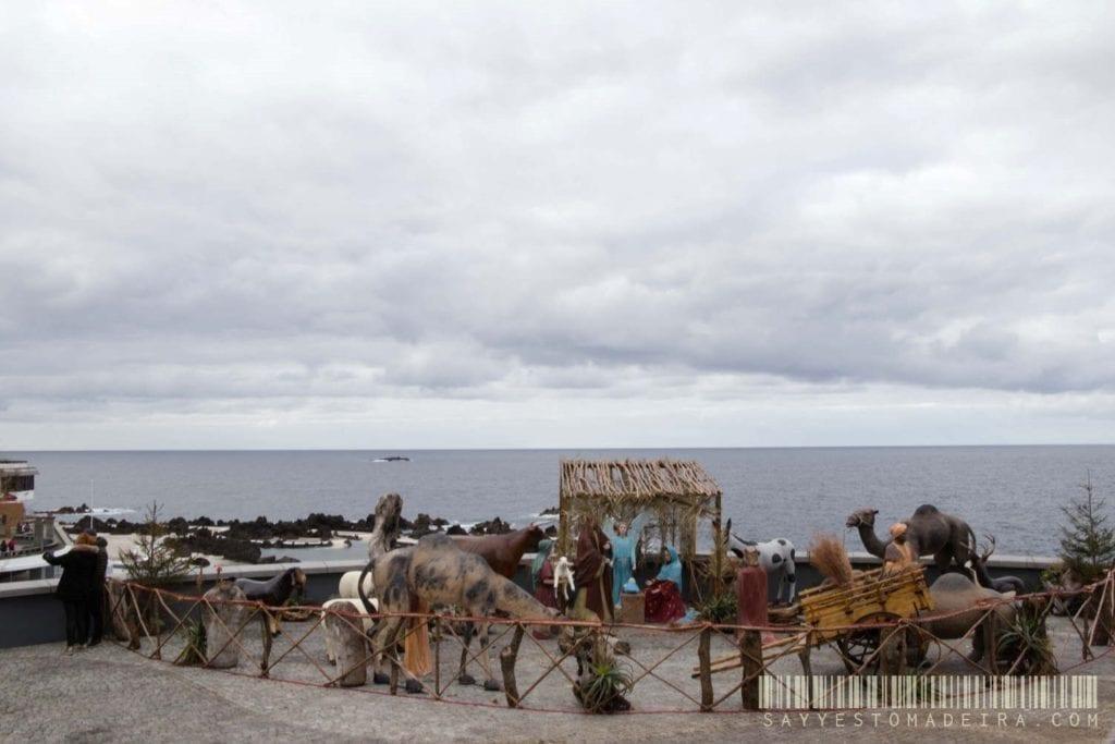 Szopka bożonarodzeniowa w Porto Moniz na Maderze - Porto Moniz w grudniu | Natvity scene in Porto Moniz, Madeira. Porto Moniz in December