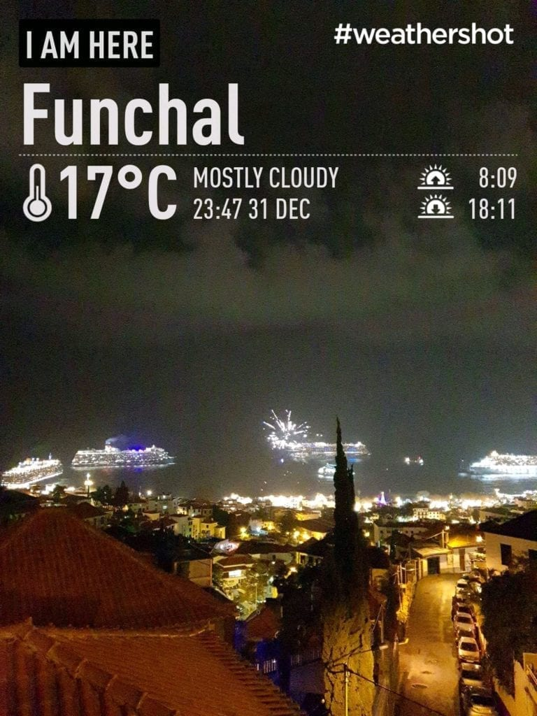 Weather on New Year's Eve in Funchal, Madeira, Portugal || Pogoda w Sylwestra w Funchal na Maderze w Portugalii. Deszczowa pogoda na Maderze