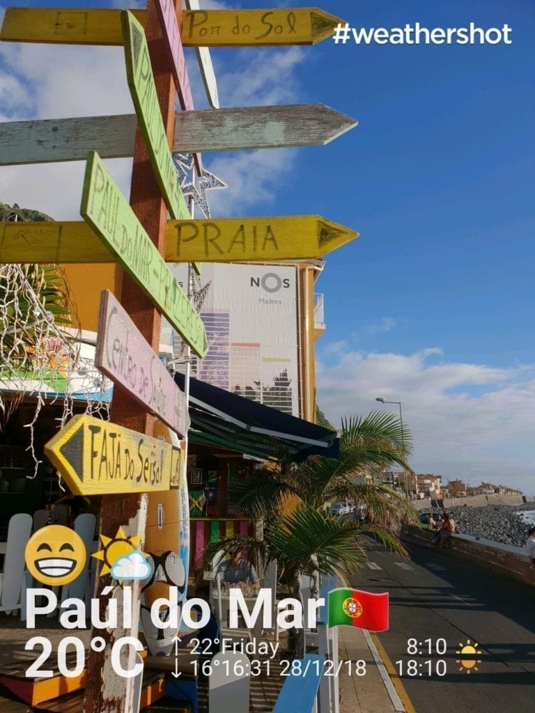 Weather in Paul do Mar in Madeira in December. Great surfer's bar in Madeira Island || Pogoda w Paul do Mar na Maderze w grudniu. Bar dla surferów na Maderze.