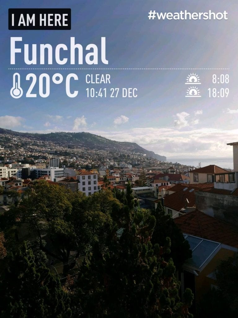 Weather in Funchal, Madeira Island, Portugal in the winter || Pogoda i temperatura w Funchal zimą