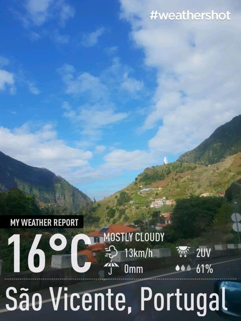 Weather in Sao Vincente, Madeira Island, Portugal in December || Pogoda i temperatura w Sao Vincente na Maderze w grudniu. Pogoda na północy Madery zimą.