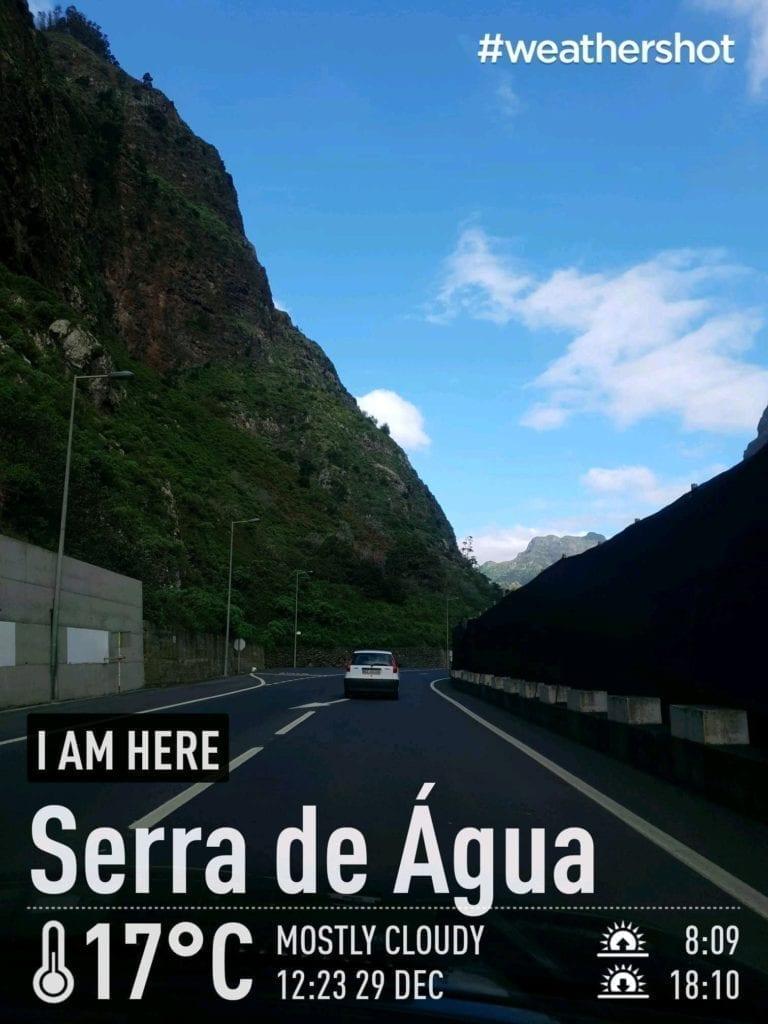 Weather in Serra de Agua, Madeira Island, Portugal in December || Pogoda i temperatura w Serra de Agua na Maderze w grudniu.