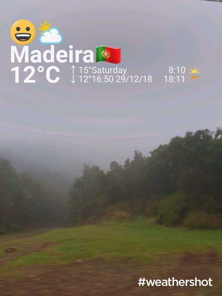 Weather in Paul da Serra, Madeira Island, in December || Pogoda w Paul da Serra na Maderze w grudniu. Płaskowyż Paul da Serra.
