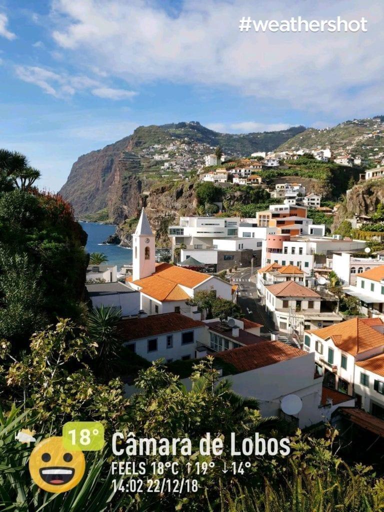 Weather in Camara de Lobos, Madeira Island, Portugal in December || Ppogoda i temperatura w Camara de Lobos na Maderze w grudniu - czyli gdzie ucieć od zimy i śniegu w Europie