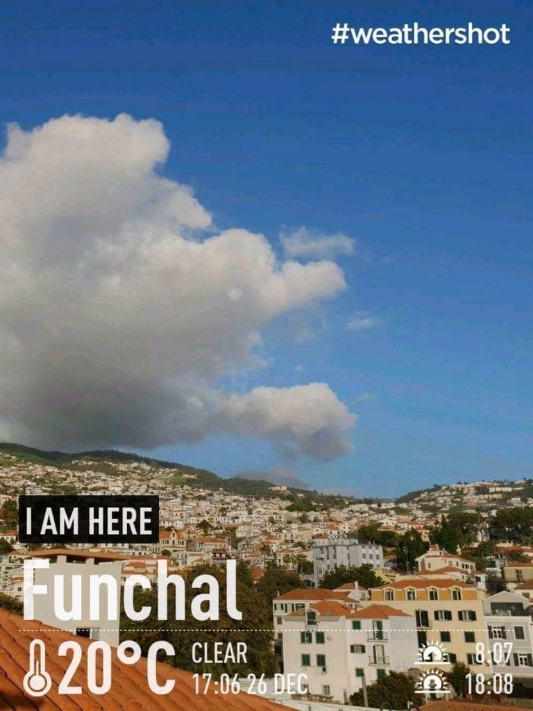 Weather on the southern coast of Madeira Island, Portugal in the winter    Pogoda na południowym wybrzeżu Madery zimą