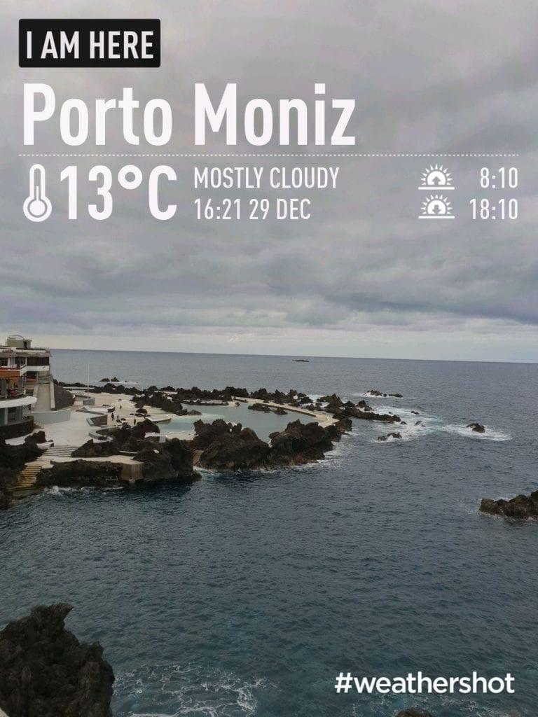 Weather in Porto Moniz, Madeira Island, in December || Pogoda i temperatura w Porto Moniz na Maderze w grudniu. Północne wybrzeże Madery - pogoda w grudniu.
