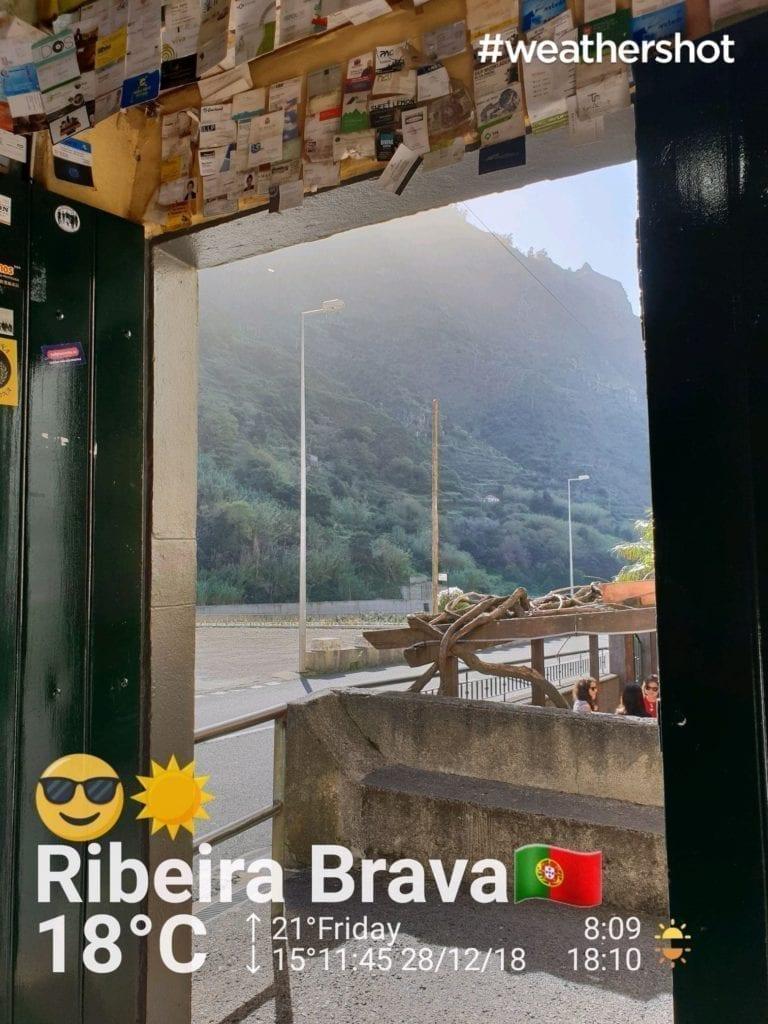 Weather in Ribeira Brava in Madeira in December || Pogoda w Ribeira Brava na Maderze w grudniu