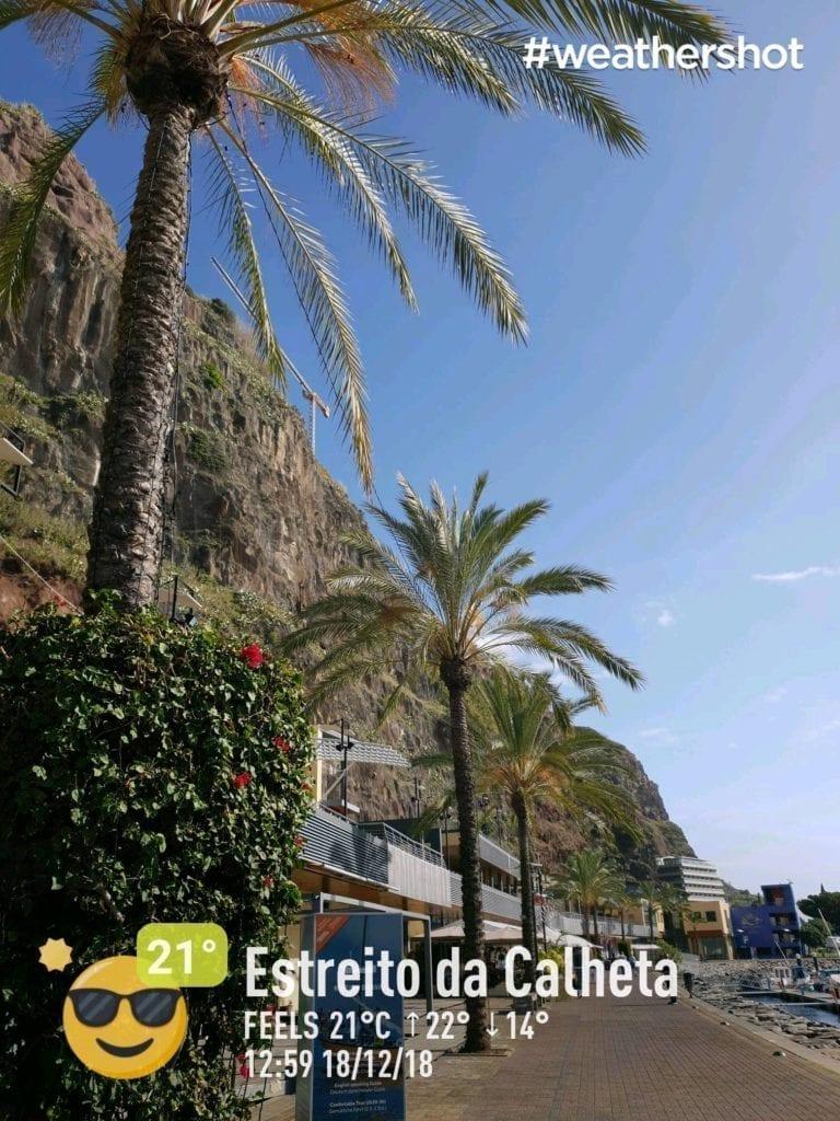 Pogoda w grudniu w Calheta na Maderze