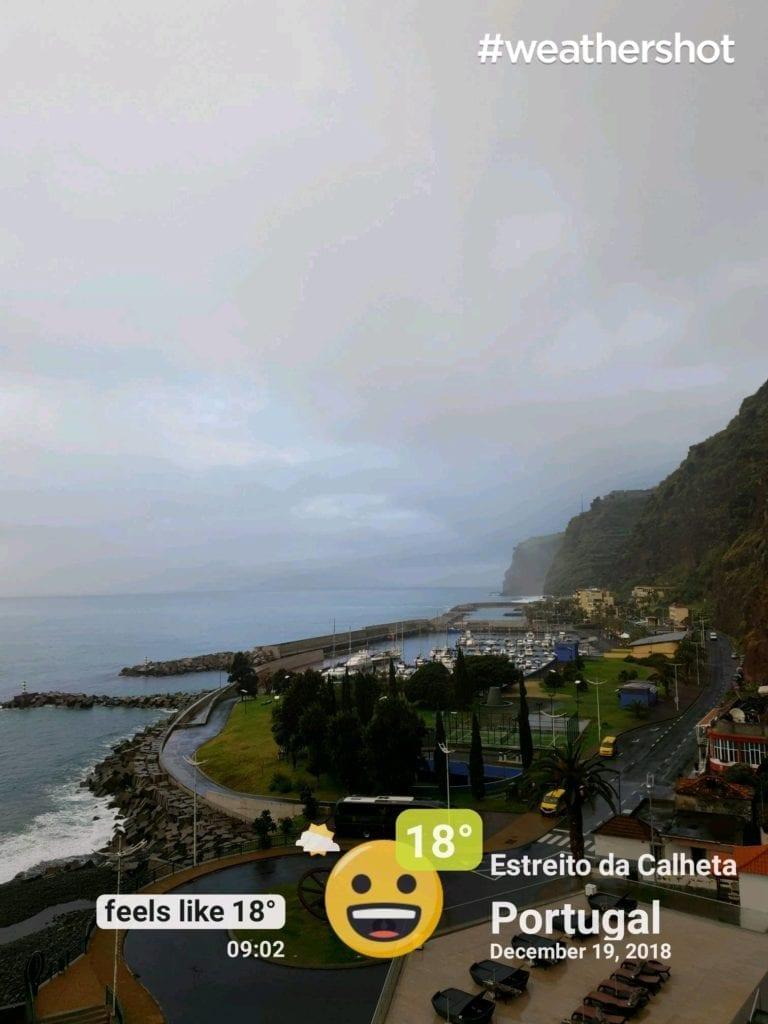 Pogoda na Maderze w grudniu- pogoda w Calheta