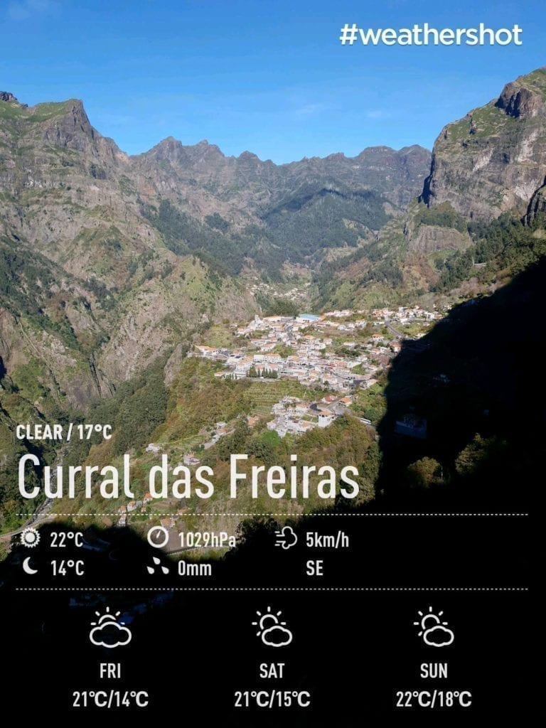 Weather in Eira do Serrado, Nun's Valley, Madeira Island, Portugal in December || Pogoda i temperatura w Eira do Serrado, Dolinie Zakonnic (Curral das Freiras) na Maderze w grudniu - raport pogodowy aka. gdzie uciec od zimy w Europie