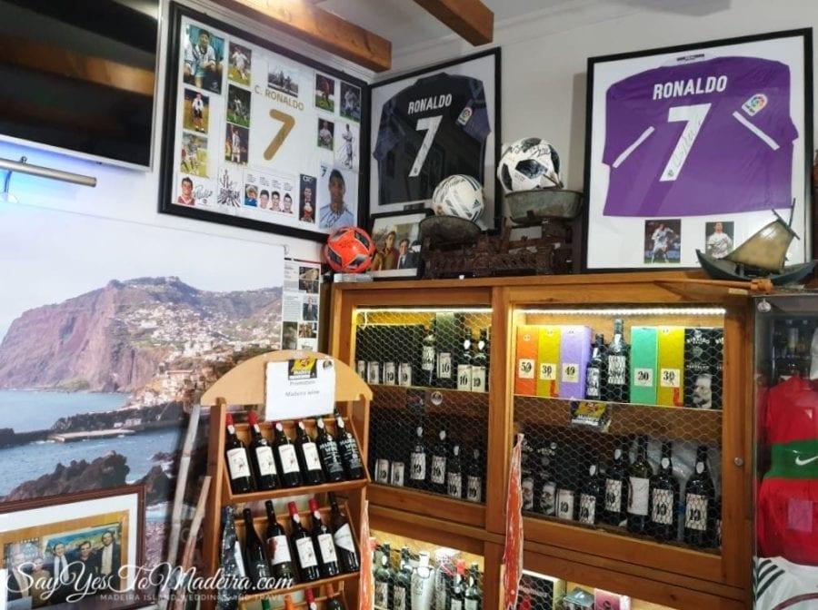 Cristiano Ronaldo - Poncha bar in Camara de Lobos