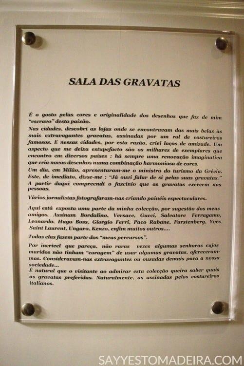 Funchal Gems: Collection of ties at the Universo de Memorias Joao Carlos Abreu #funchal #madeira #portugal #museum #tie Polecane miejsca na Maderze: kolekcja krawatów w muzeum Universo de Memorias Joao Carlos Abreu w Funchal
