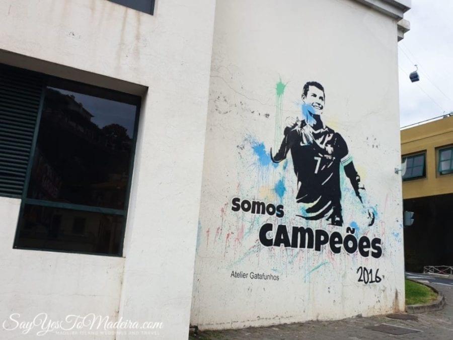 Mural of Ronaldo, Funchal