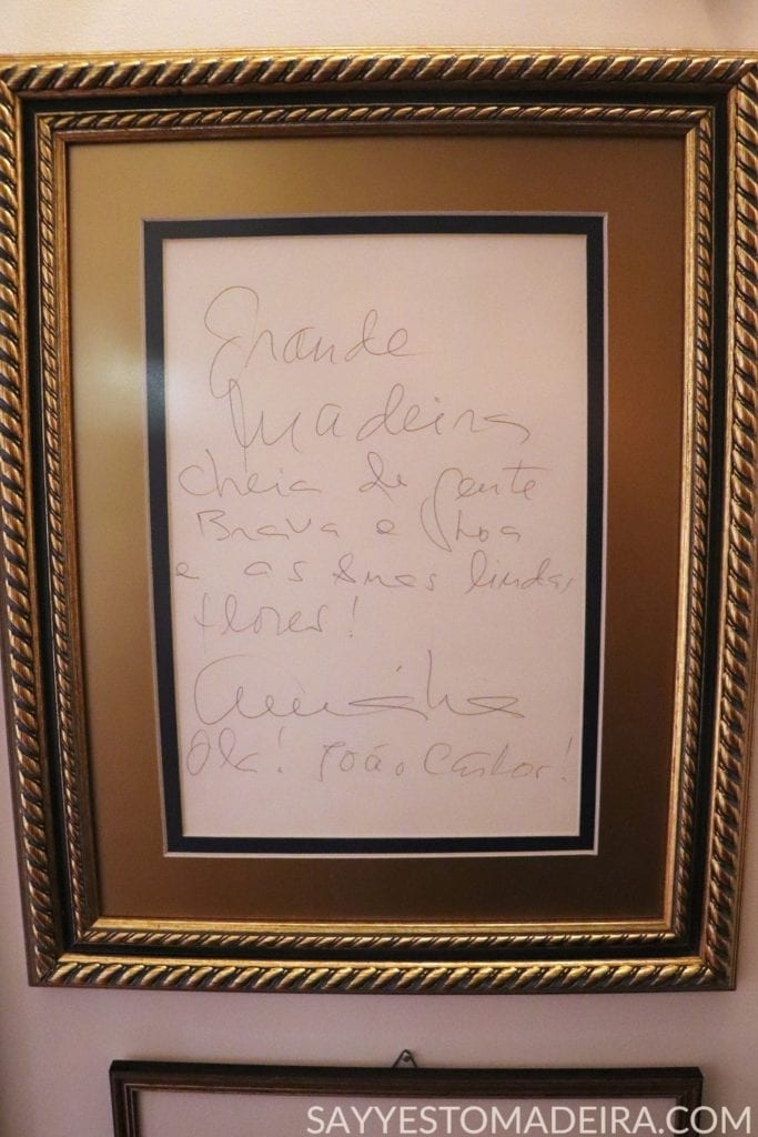 Letter from the Queen of Fado- Amalia Rodrigues in Madeira - Picture @ Universo de Memorias Joao Carlos Abreu. Best museums & art collections of Madeira Island, Portugal #funchal #madeira #portugal #amalia #fado Polecane miejsca na Maderze: Universo de Memorias Joao Carlos Abreu w Funchal. List od Amalii Rodrigues