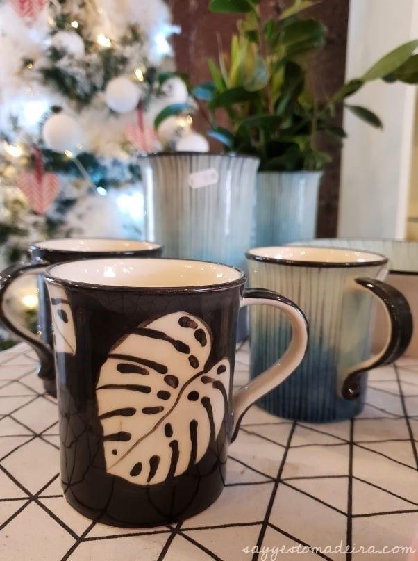 Handmade art Madeira Island. Madeira Island souvenirs at Lillie Ceramics, Armazém do Mercado, Funchal #madeira #handmade #beautiful #urbanjungle #monstera #gift Ręcznie robione prezenty i pamiątki z Madery #madera #prezent #monstera