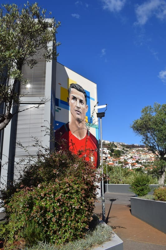 CR7 Cristiano Ronaldo Mural in Madeira, Portugal by Richard Wilson - richardwilsonartwork