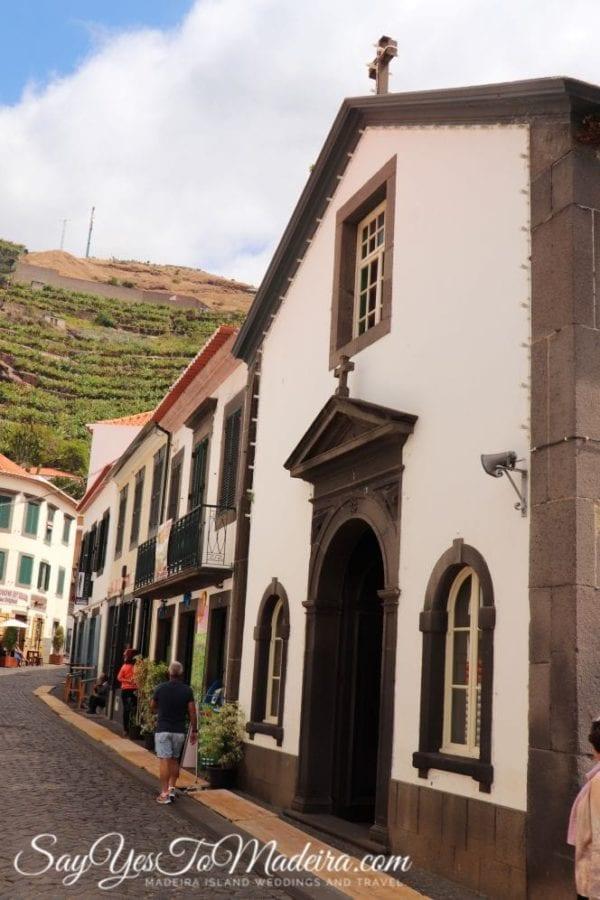 Beautiful Chapel of Nossa Senhora dos Pescadores (Our Lady of Fishermen) in Camara de Lobos, Portugal, Madeira