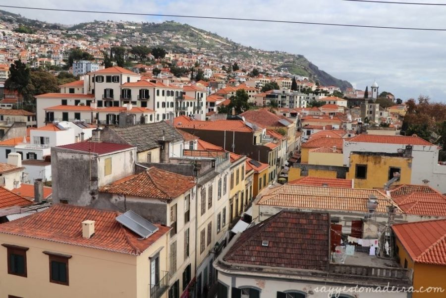 View on Funchal from above - Madeira Story Centre Rooftop viewpoint #madeira #funchal Widok na Funchal z tarasu widokowego na dachu