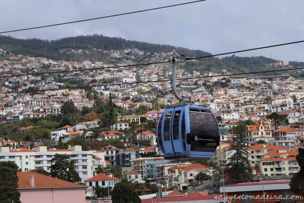 Funchal cable car, Madeira Island - view from Madeira Story Centre roof viewpoint #funchal #madeira Kolejka linowa na Monte w Funchal - widok z tarasu widokowego w Madeira Story Centre