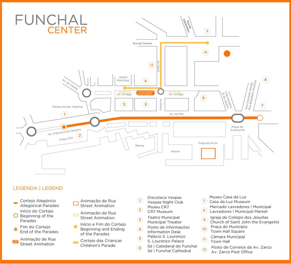 Flower Festival Parade Funchal 2019 route map