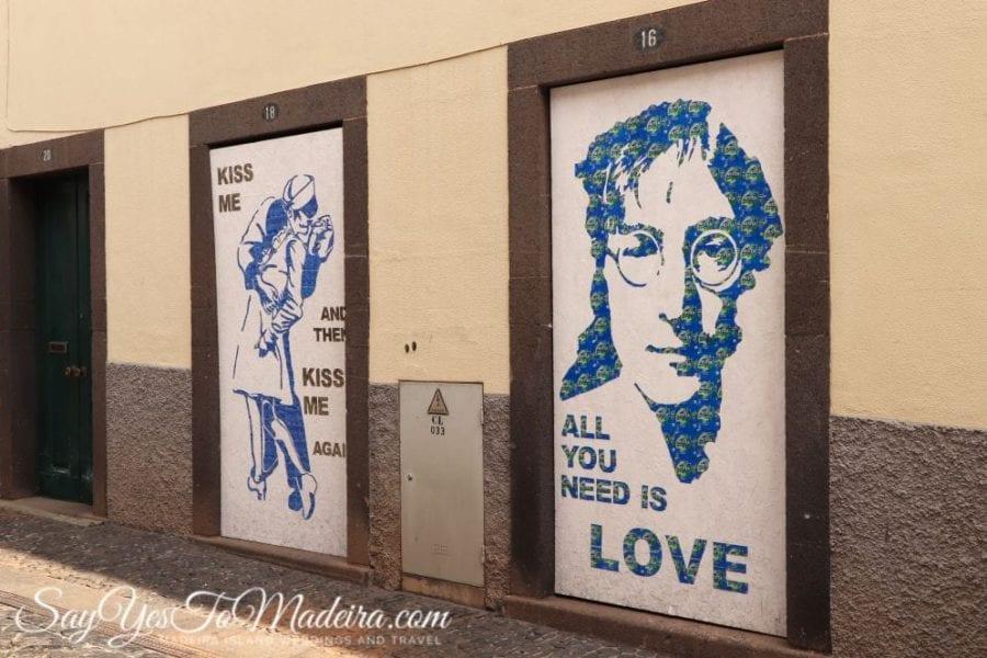 Sztuka uliczna w Camara de Lobos na Maderze