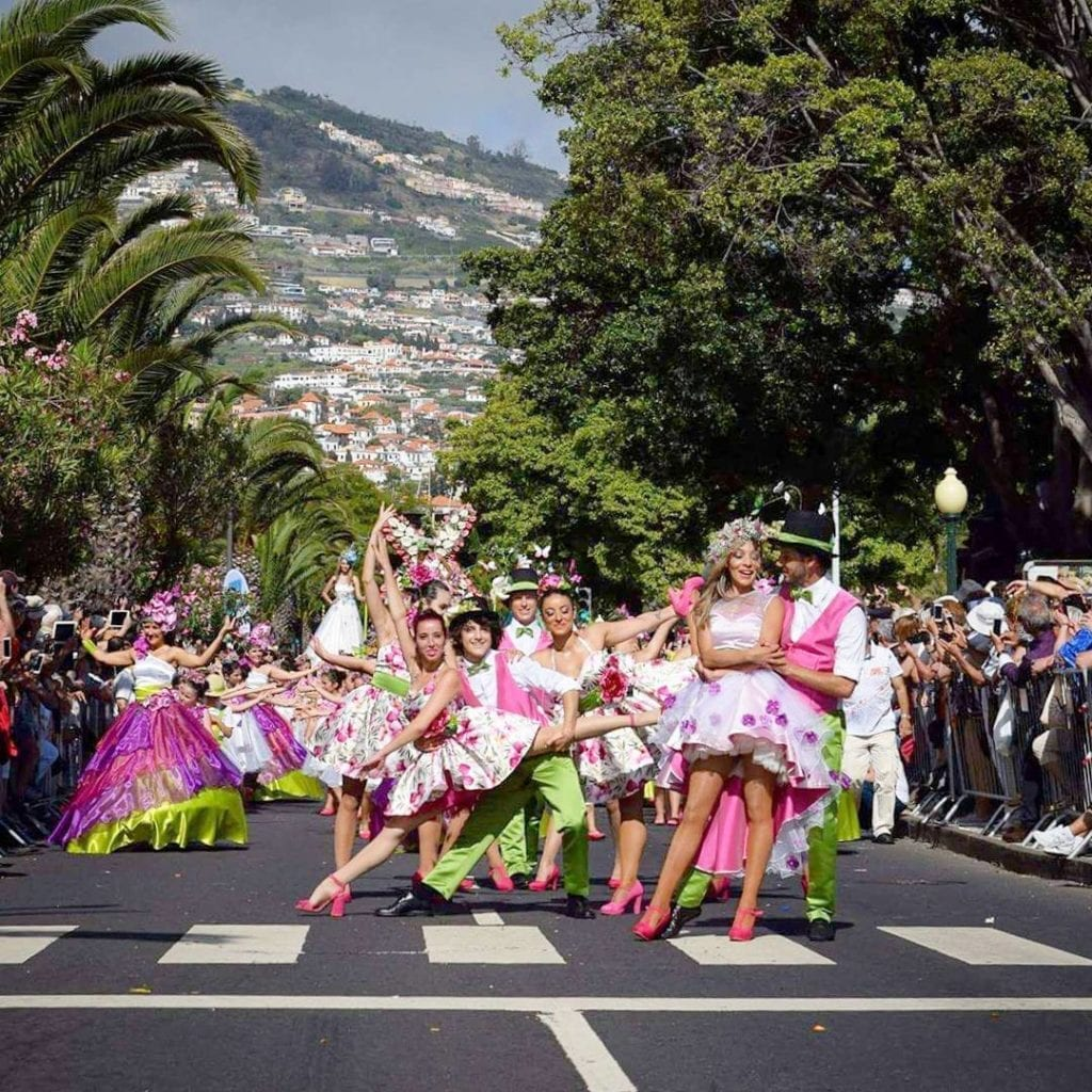 Flower Parade on Avenida do Mar in Funchal, Madeira