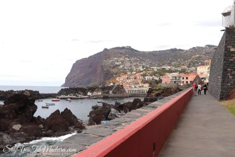 Promenada z Camara de Lobos do Funchal na Maderze