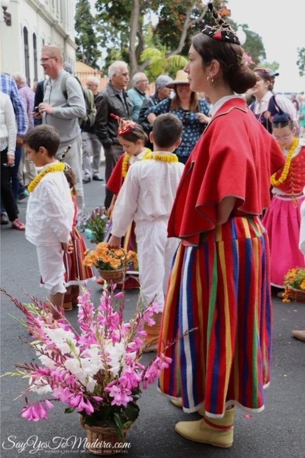Madeira Island children wearing traditional local costumes - Children Wall of Hope Parade Funchal 2019 - Ściana Nadziei Parada Dzieci Funchal - Muro da Esperança 2019 Funchal