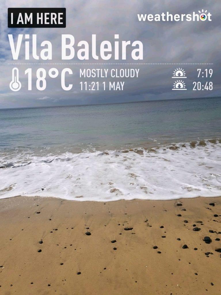 Our weather report: weather in Vila Baleira, Porto Santo, Portugal in May - Nasz raport pogodowy - pogoda w Vila Baleira na Porto Santo w maju Beautiful beaches Porto Santo - Najpiękniejsze plaże Portugalii: Porto Santo
