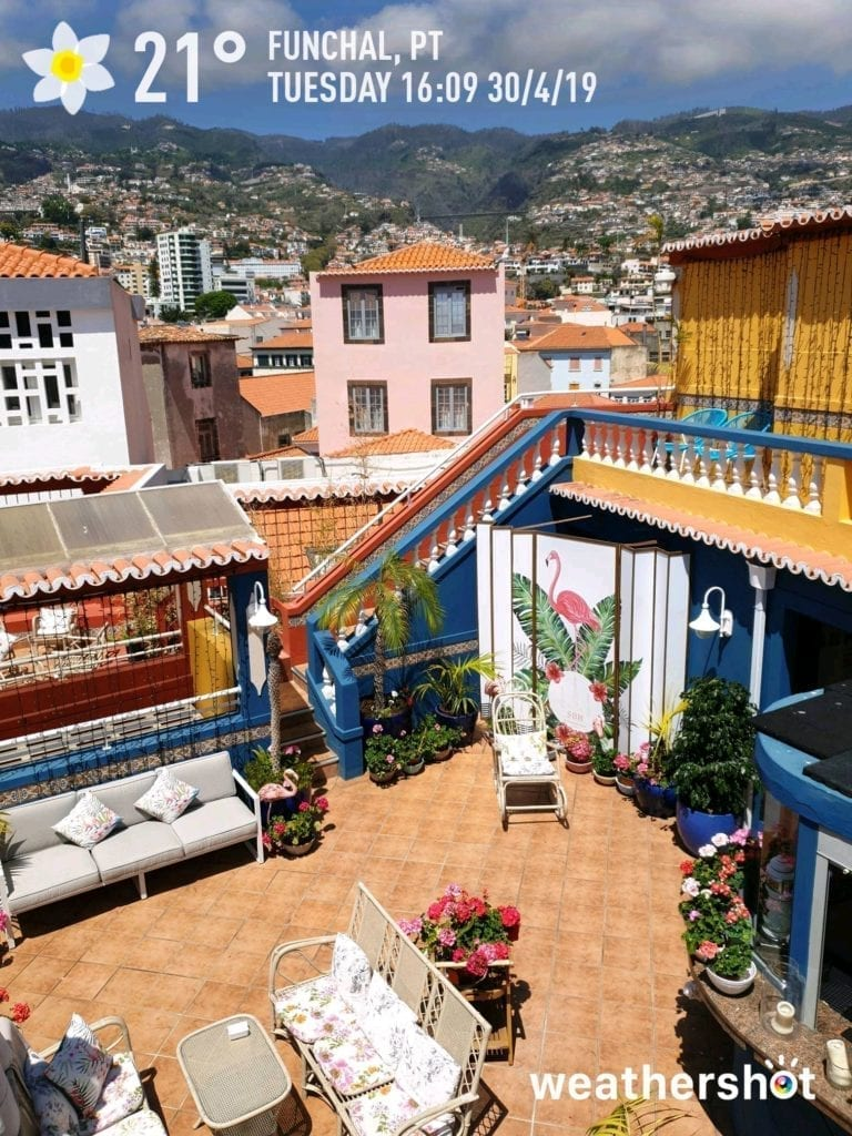 Se Boutique Hotel rooftop cafe - Hidden gems of Funchal - Best cafes Funchal - Se Boutique Hotel kawiarnia na dachu - ciekawe miejsca na Maderze - najlepsze kawiarnie w Funchal