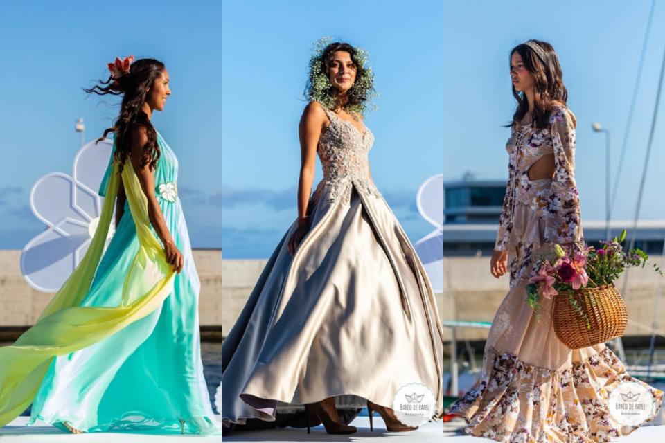 Beautiful floral dresses presented during Madeira Flower Collection 2019 in Madeira, Portugal - Piekne kwieciste suknie podczas pokazu mody w Funchal #maxidress #floraldress #madeira