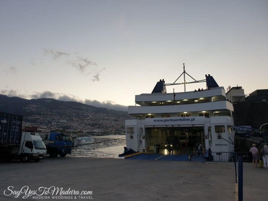 Taking a car by ferry Lobo Marinho from Madeira Island to Porto Santo - our review II Zabranie auta promem z Madery na Posto Santo