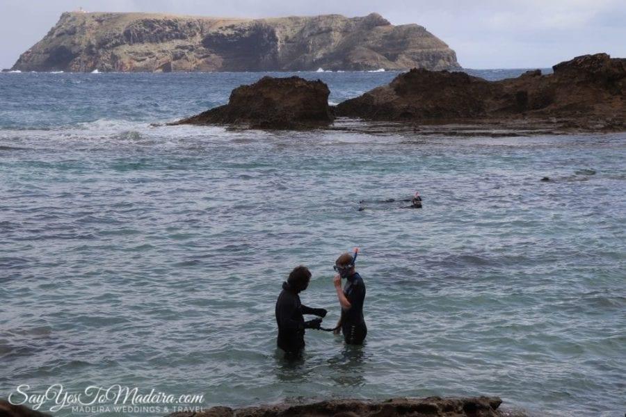 Rockpool snorkeling tour Porto Santo Portugal - Porto Santo tours II Wycieczki i rejsy na Porto Santo: nurkowanie z rurką w basenie pływowym