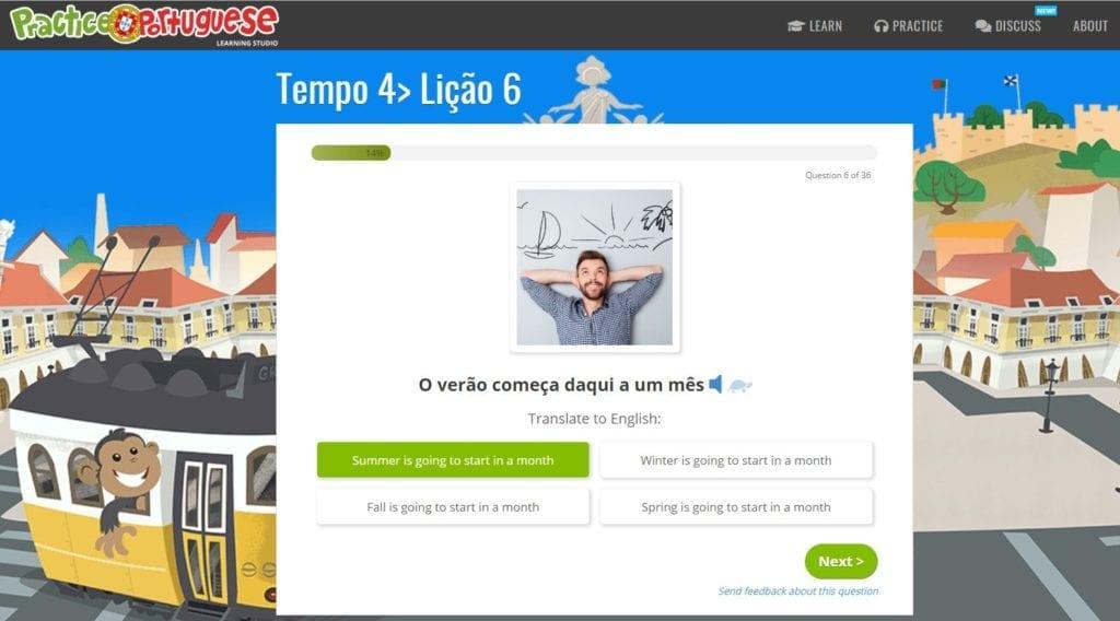 Practice Portuguese - online European Portuguese lessons - lekcje portugalskiego europejskiego online
