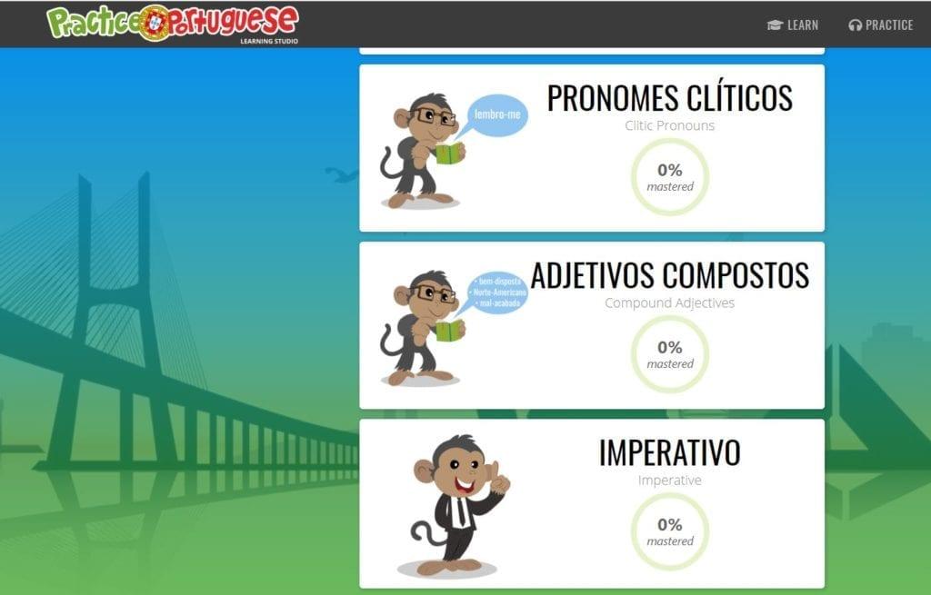 Practice Portuguese - Portuguese lessons online I Portugalski europejski online