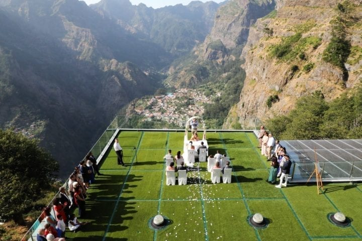 Mountain wedding venues. Mountain destination wedding venue in Madeira, Portugal
