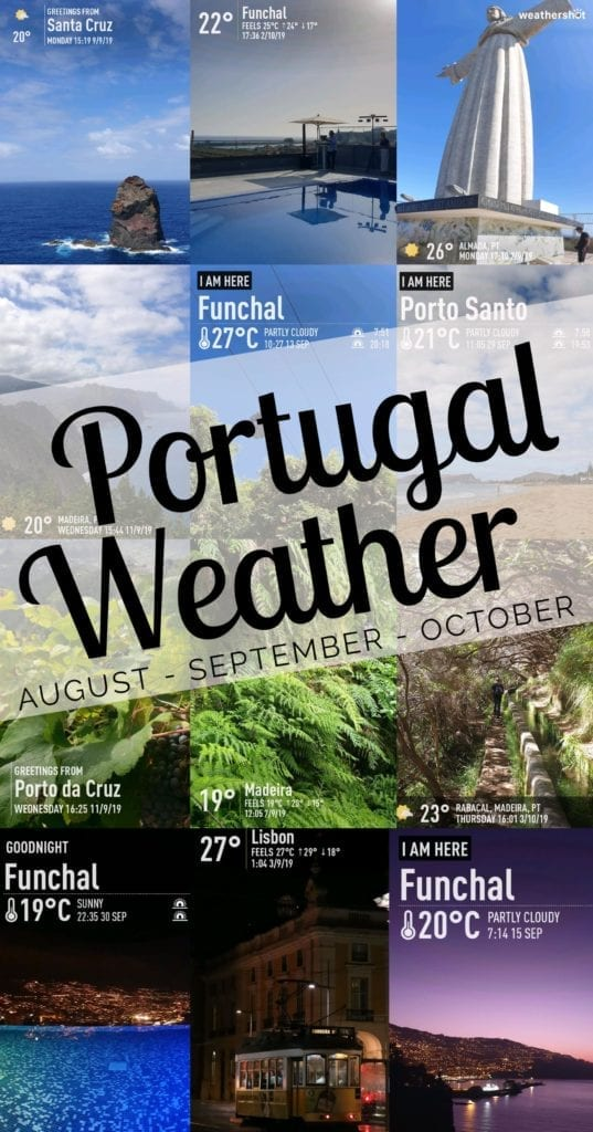 Best time to visit Portugal? Best time to visit Madeira Island? In my opinion - September! Check our weather report: Weather in Portugal in August, September and October