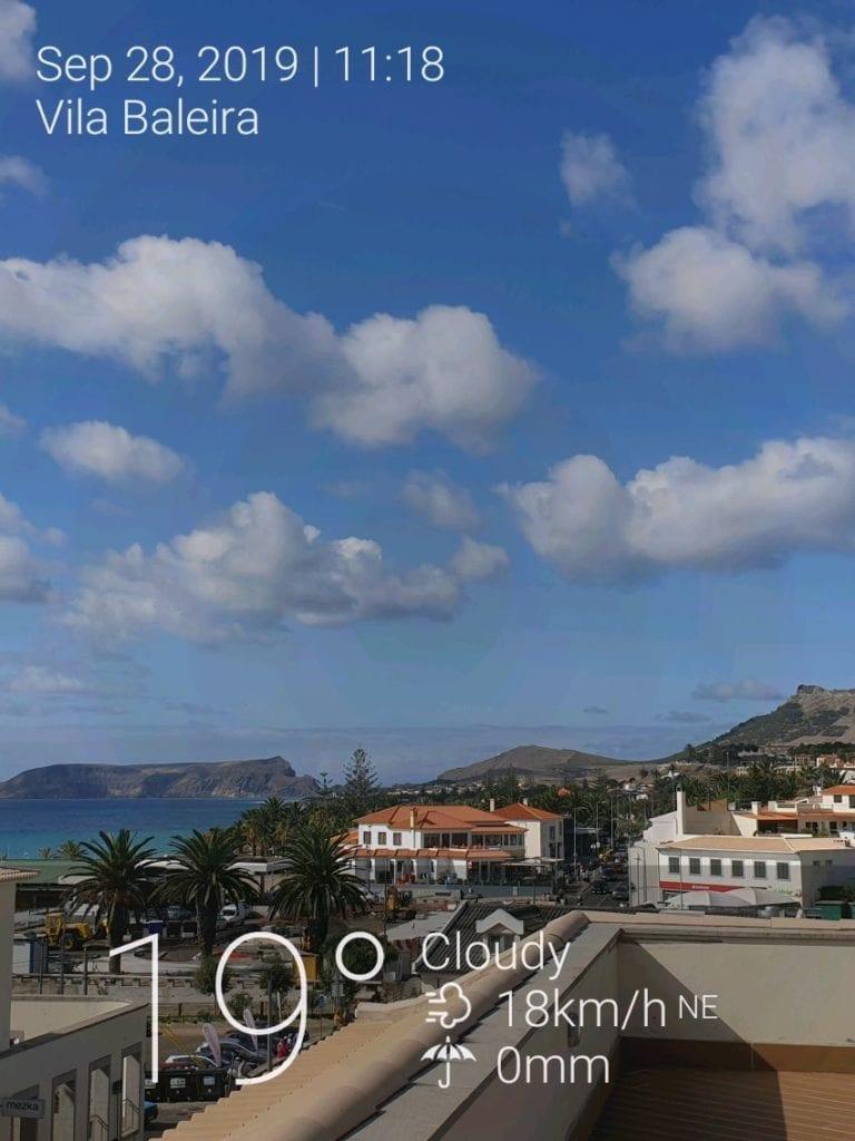 Pogoda w Vila Baleira na Porto Santo we wrześniu i październiku. Temperatura wody na Porto Santo jesienią.