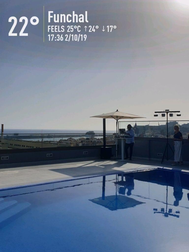 Pogoda na Maderze we wrześniu. Temperatura wody w Funchal na Maderze po sezonie letnim. Madera we wrześniu. Hotel Turim Santa Maria w Funchal na Maderze